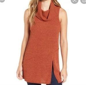 Astr the label orange turtleneck sweater